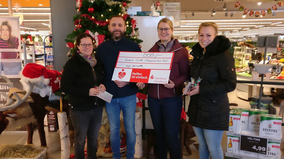 Spendenübergabe im Wallenhorster E-Center für das Mädchenzentrum in Osnabrück. Foto: Ladies Circle Osnabrück