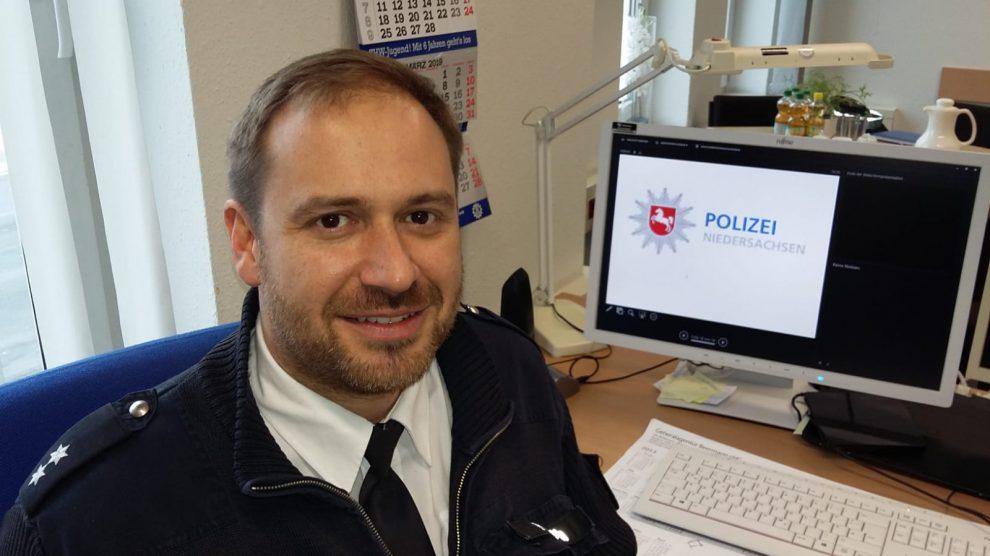 Christian Netsch ist neuer Dienststellenleiter der Polizei in Wallenhorst. Foto: Polizeiinspektion Osnabrück