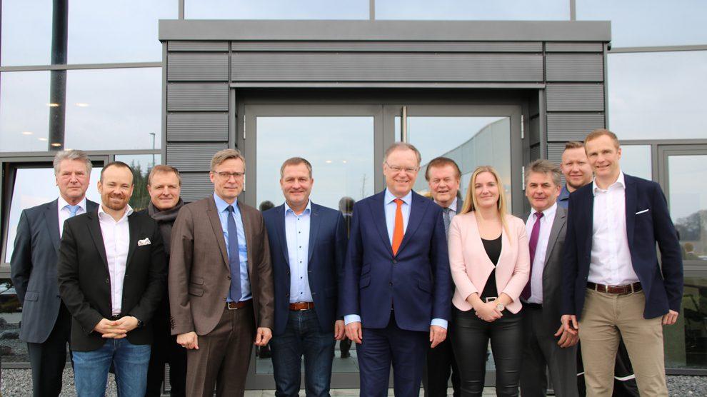 Hoher Besuch in Wallenhorst: Ministerpräsidenten Weil besuchte die Firma Schütte. Foto: Wahlkreisbüro Guido Pott