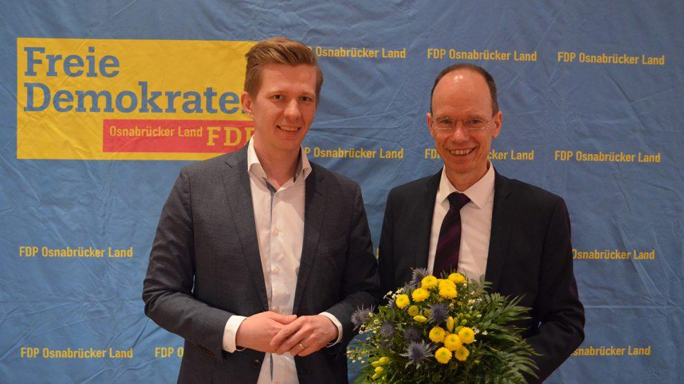 Matthias Seestern-Pauly (links) und Michael Lübbersmann. Foto: FDP Osnabrück-Land