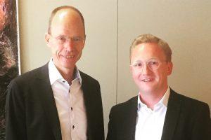 Der aktuelle Landrat Michael Lübbersmann (links) und der CDW-Abgeordnete Michael Lührmann. Foto: CDW