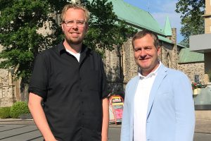Die SPD-Aufsichtsratsmitglieder der GWW: Markus Broxtermann und Guido Pott. Foto: SPD-FDP Gruppe Wallenhorst