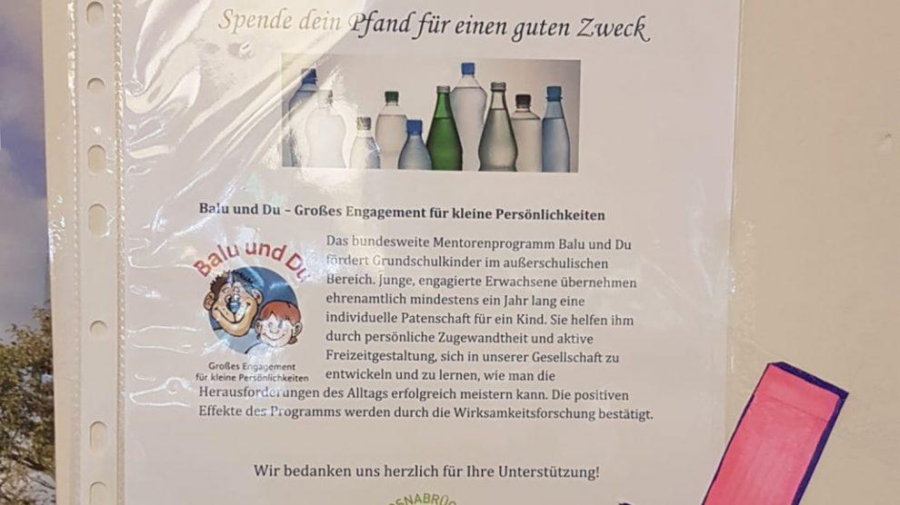 """Mit jedem Pfandbon aus dem E-Center Wallenhorst kann man das Projekt """"Balu und Du"""" unterstützen. Foto: Ladies' Circle Osnabrück"""