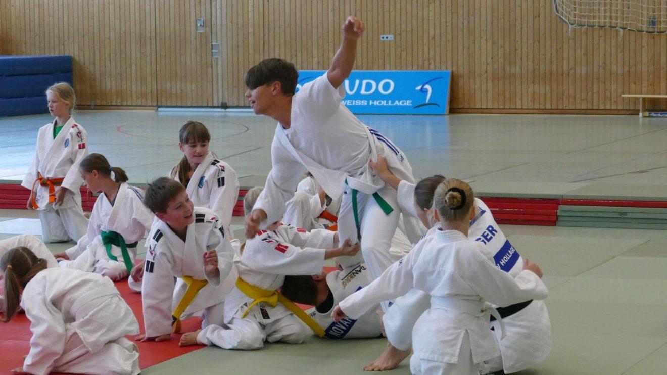 Eindrücke vom Hollager Judo Camp 2019. Fotos: Blau-Weiss Hollage