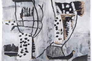 """Aktuelle Werke von Hiltrud Schäfer und Wilfried Bohne stehen im Mittelpunkt der Ausstellung """"Wortreiches Schweigen"""", die am Sonntag, 27. Oktober, im Ruller Haus eröffnet wird. Foto: Schäfer/Bohne"""