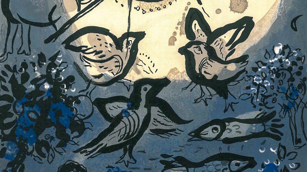 """Eines der Werke, die in der Ausstellung zu sehen sind: Marc Chagalls Farblithographie """"Die Schöpfung"""" (Ausschnitt). Foto: Gemeinde Wallenhorst"""