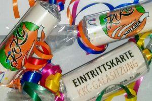 Die Eintrittskarten für die KKC-Nachmittagsgala sind auch als verpacktes Präsent erhältlich. Foto: Heinz Grünebaum / Kolpingsfamilie Hollage