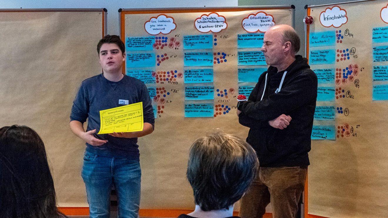 Die Ergebnisse der Workshops werden strukturiert aufbereitet allen Teilnehmenden präsentiert. Foto: Gemeinde Wallenhorst / Ulla Kocks