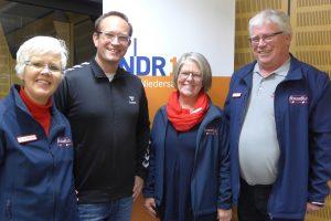 Von links: Dorothee Hoffmann, Sören Oelrichs, Marion Müssen und Klaus Schmitz. Foto: NDR 1 Niedersachsen