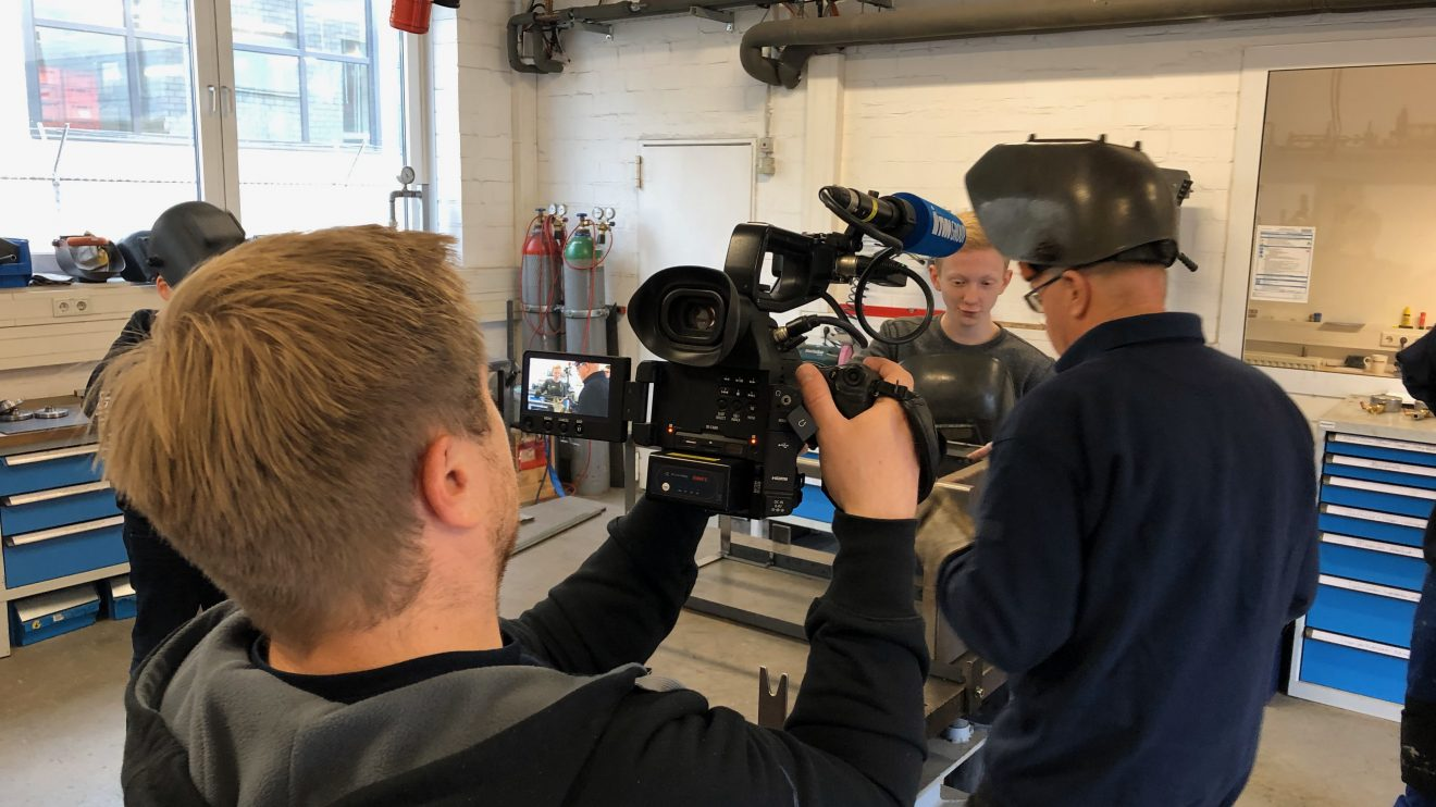 Eindrücke zum Abschluss der GenerationenWerkstatt der Wallenhorster Realschüler bei der Purplan GmbH. Foto: GenerationenWerkstatt