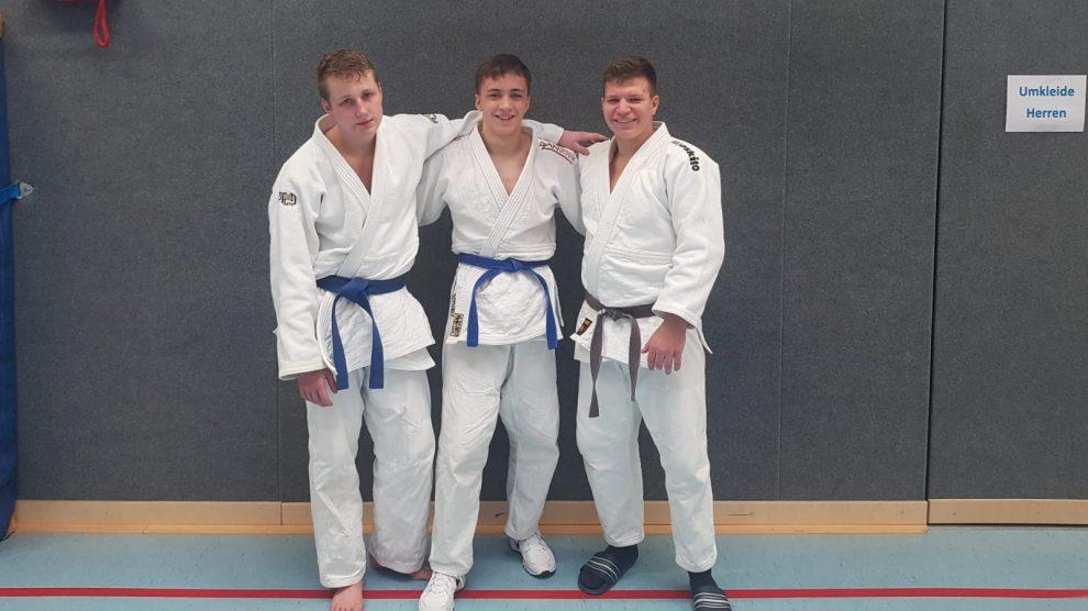 Die erfolgreichen Hollager Judoka der u21 bei den Niedersachsenmeisterschaften. Foto: Blau-Weiss Hollage