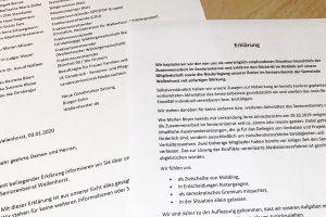 Die Erklärung mehrerer Mitglieder zum Rücktritt aus dem Seniorenbeirat der Gemeinde Wallenhorst. Foto: Rothermundt / Wallenhorster.de