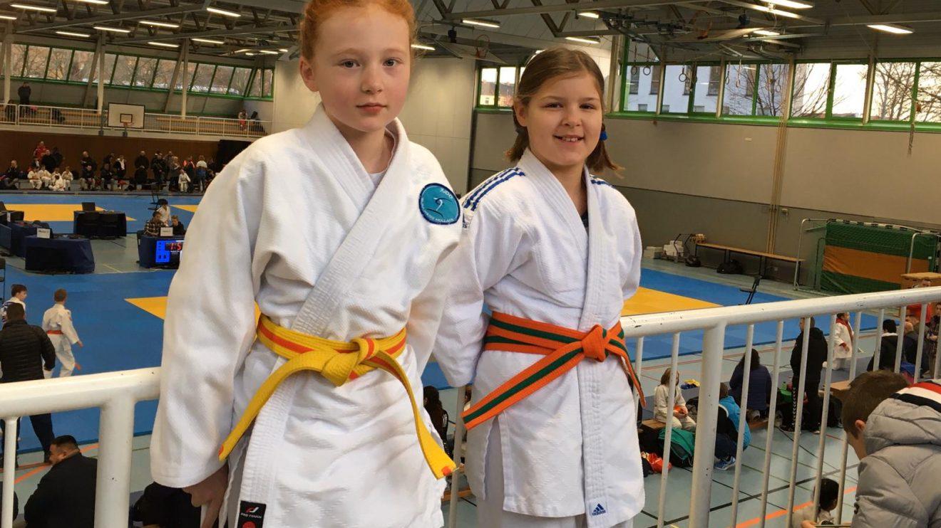 Hanna (links) und Hannah. Foto: Blau-Weiss Hollage
