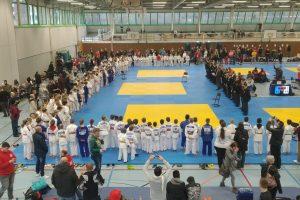 Der Osnabrücker Crocodiles Cup erfreute sich in diesem Jahr einer Teilnehmerzahl von mehr als 600 Judoka aus 130 Vereinen, die aus sechs Nationen angereist waren. Foto: Blau-Weiss Hollage