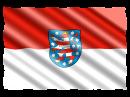 Wappen und Flagge des Landes Thüringen. Bild: jorono / Pixabay