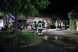 Die Feuerwehr ist bei einem Wohnhausbrand in Wallenhorst im Einsatz. Foto: M. Dallmöller