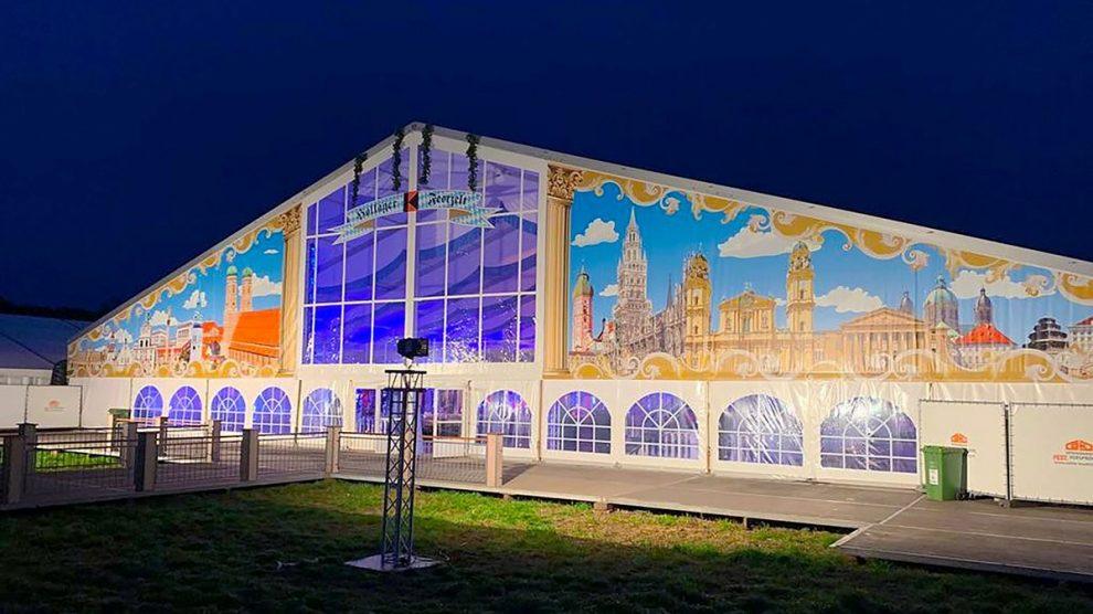 Das Festzelt an der Hansastraße wird 2020 nicht aufgebaut. Foto: Kolpingsfamilie Hollage