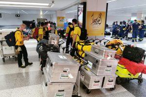 Das Team kommt am Flughafen in Beirut an. Foto: @fire