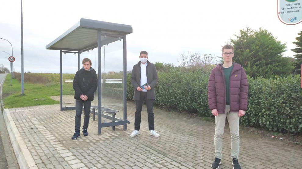 v.l.n.r.: Aaron Schoemaker, Niklas Müller, Jan Wißkirchen. Foto: FDP Wallenhorst