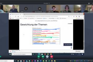 Abendliches Online-Treffen der Wallenhorster Liberalen. Screenshot: FDP Wallenhorst