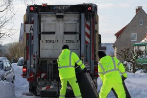 Eindrücke vom heutigen Testbetrieb der Müllabfuhr in Melle. Fotos: M. Kluwe, AWIGO LOGISTIK