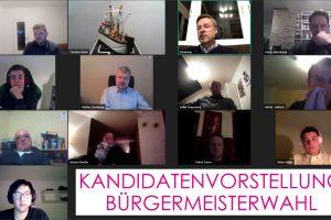 Kandidatenvorstellung online. Screenshot: FDP Wallenhorst