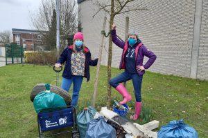Die Grünen haben in Wallenhorst mit Birgit Schad und den City Cleaners Germany ordentlich aufgeräumt. Foto: Mario Wöstmann / Bündnis 90 / Die Grünen Ortsverband Wallenhorst