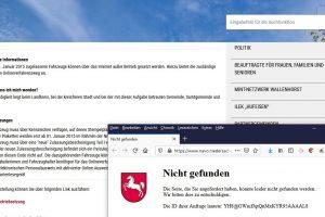 Ein Link ins Leere. Screenshot: FDP Wallenhorst