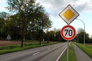 70 selbst bei (selten) freier Strecke. Foto: FDP Wallenhorst