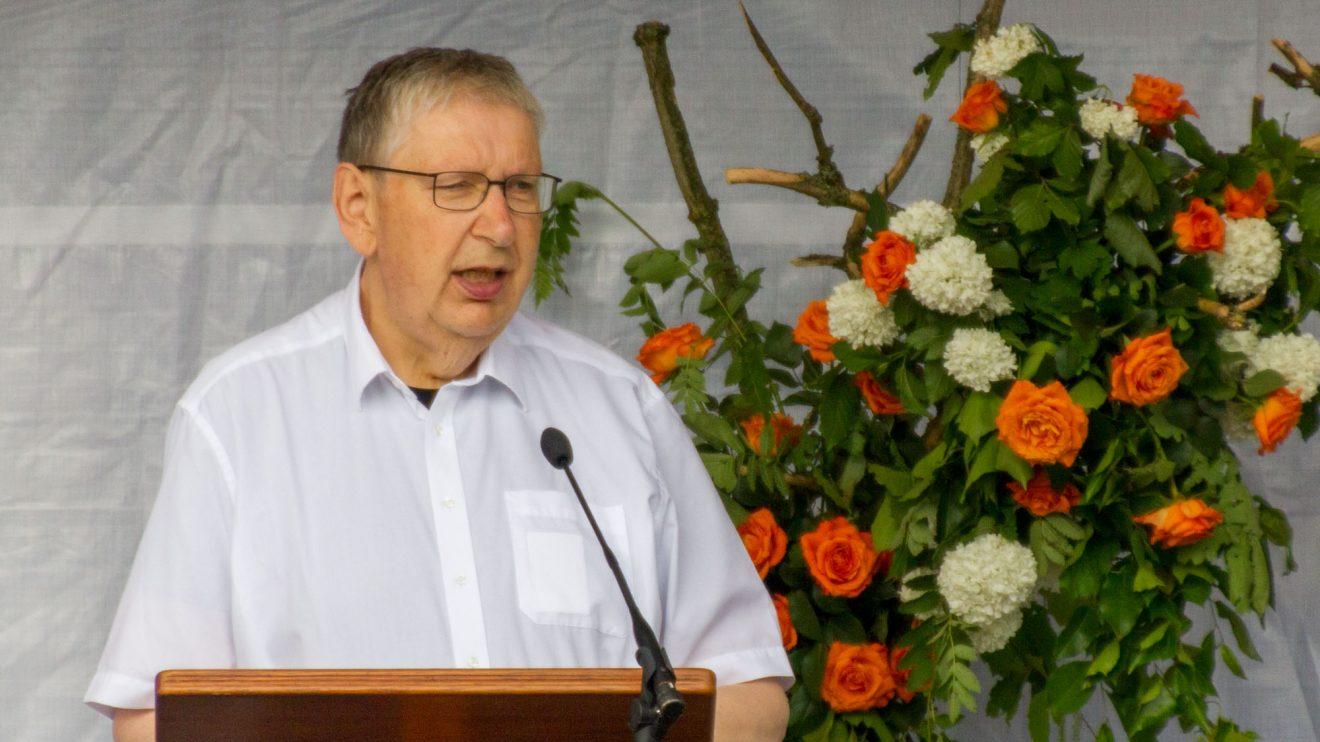 "Diözesanpräses Reinhard Molitor hält die Festrede zum Thema ""Kolping in und nach Corona"". Foto: André Thöle / Kolpingsfamilie Hollage"
