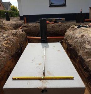 Hier der Bau einer Rigole auf dem Grundstück eines Einfamilienhauses Foto: Alexander Poske, Garten- und Landschaftsbau, Wallenhorst