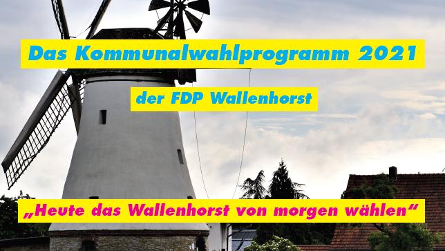 Das Programm der FDP Wallenhorst 2021. Design: FDP Wallenhorst