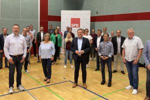 Die 34 Kandidierenden der SPD Wallenhorst freuen sich auf viele Begegnungen mit den Wallenhorster Bürgerinnen und Bürgern. Foto: SPD Wallenhorst
