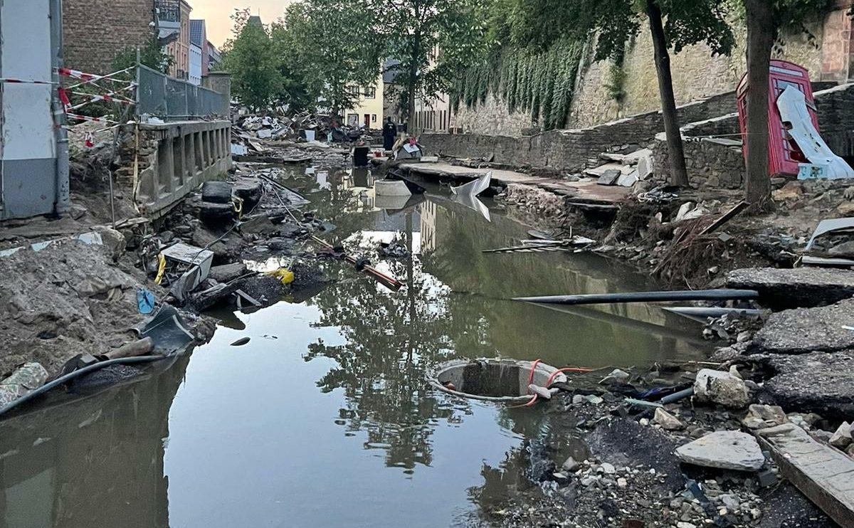 Eindrücke aus dem Hochwassergebiet. Foto: Landjugend Wallenhorst