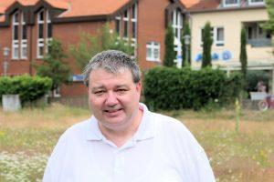 Holger Pellmann auf der Grünen Wiese in Wallenhorst. Foto: CDU Wallenhorst