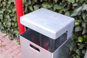 Noch leere Mülleimer müssen nicht geleert werden, hier am Beispiel der nach FDP-Anfrage installierten Mülleimer am Prozessionsweg in Rulle. Foto: FDP Wallenhorst