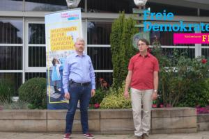 """""""Der erste virtuelle Infostand mit Christian Nobis und Markus Steinkamp. Foto: Christian Nobis"""