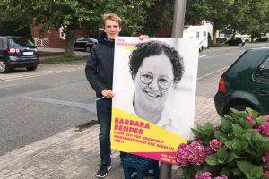 Emsiger Wahlkampfeinsatz. Foto: Daniel Eling