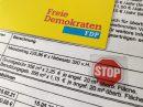 Ein klares STOP-Zeichen gegen höhere Gemeindesteuern. Symbolbild: FDP Wallenhorst