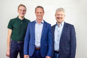 v.l.n.r.: Moritz Halbach, Dr. Marco Barenkamp, Markus Steinkamp. Foto: Johanna Rose
