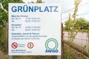Baustelle in Wallenhorst-Lechtingen: Der AWIGO-Grünplatz ist bis Ende Oktober nur einseitig erreichbar. Foto: Awigo